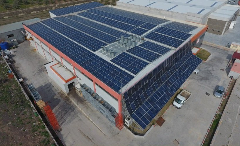 Solar Power Plant Rooftop Installation